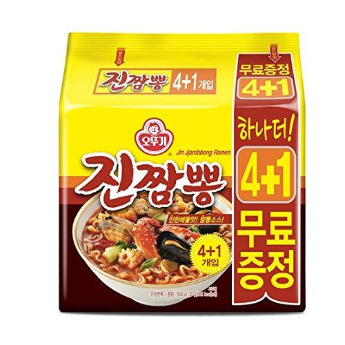 Ottogi 韓国ジンチャンポンラーメン4 + 1