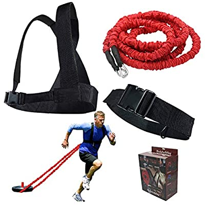 BESTIM Resistance Trainer Acceleration Speed Cord - Agility and Speed Training Equipment for Resistance Training to Improve Strength 2m Elastic Cord Set