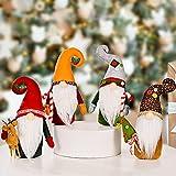 Gnomos de Navidad, hechos a mano, decoración de elfo de Navidad, decoración de elfo de peluche sueco Tomte de peluche de muñeca de mesa para casa de granja de decoración de bandejas escalonadas