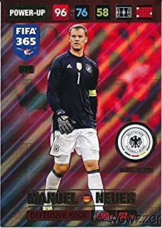 2017 Panini Adrenalyn XL FIFA 365 #357 Manuel Neuer Defensive Rock Power-Up Insert Card! Awesome Special Great Looking Card Imported from Europe! Shipped in Ultra Pro Top Loader to Protect it