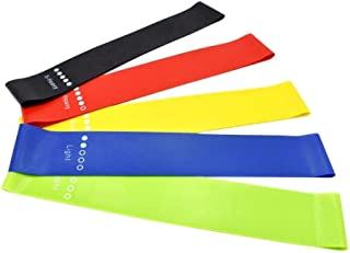 New 2020 Latex Bands Resistance Basic Color - 5 Bands Set (5 Resistance) - Exercise Workout Booty Bands for Legs and Butt ...