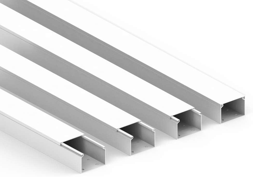Habengut Kabelkanal Mit Montagelochung Im Boden 40x60 Mm Aus Pvc Farbe Schwarz Länge 4 M 4 X 1 M Länge Baumarkt