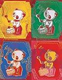 Art-Galerie Kunstdruck/Poster Andy Warhol - Four Pandas, 1983-65 x 84cm - Premiumqualität - Made in Germany -