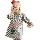 Switchali Navidad Christmas Bebe niña Disfraz Vestidos de Fiesta para Bodas niñas 2017 otoño Tutú Vestidos niña Invierno Ropa de Nina en Oferta Manga Larga Princesa Vestido (110 (3-4años), Gris)