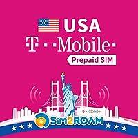 アメリカ SIMカード インターネット 9日間 4G高速データ通信 国内通話 SMS 無制限使い放題 –America USA SIM T-mobile 回線利用 9Days