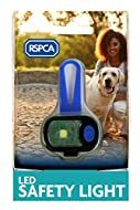 RSPCA rechargable LED safety light water resistant dog puppy pet USB 5hrs flash
