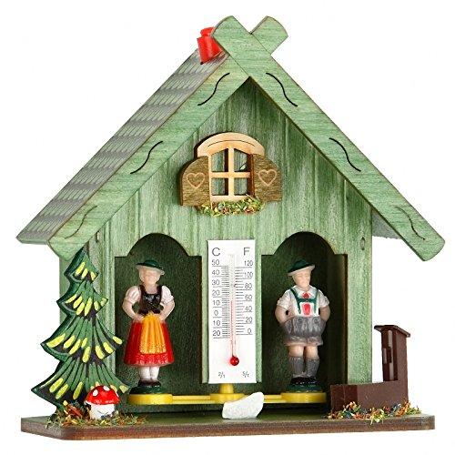 ISDD Kuckucksuhren Wetterhaus grün