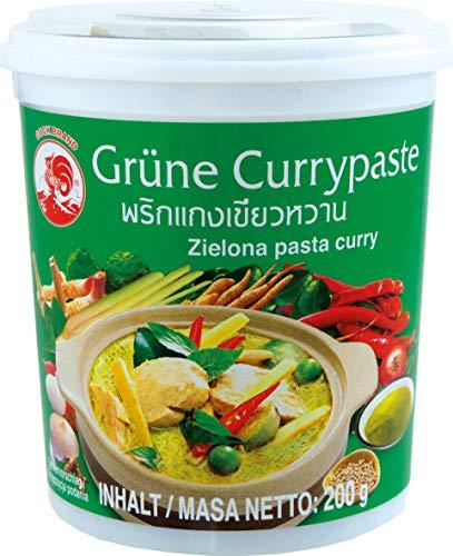 Cock Pasta de Curry Verde Cock, Muy Picante, Cocina Auténtica Tailandesa, Ingredientes Naturales, Vegano, Halal y sin Gluten 200 g