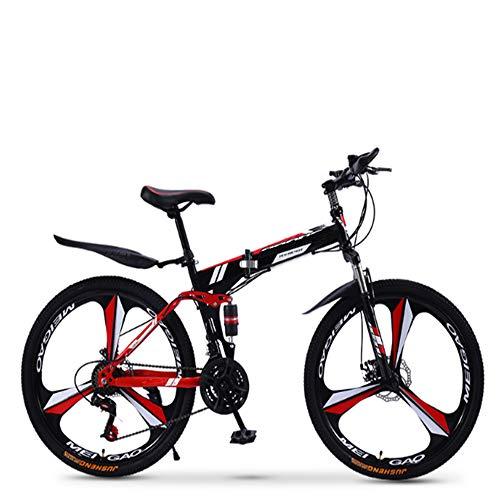 XWDQ Klapp Mountainbike Fahrrad 21/24/27/30 Geschwindigkeit Männer Und Frauen Geschwindigkeit Student Erwachsene Fahrrad Double Shock Racing,20inch,21speed