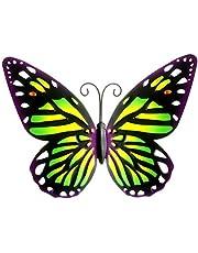 BIUDUI Metall fjäril väggdekoration vägghängande fjärilar väggdekoration trädgård väggkonst metall för hem hantverk järn konst vägghängande inomhus och utomhus dekorationer 25 x 18,5 cm