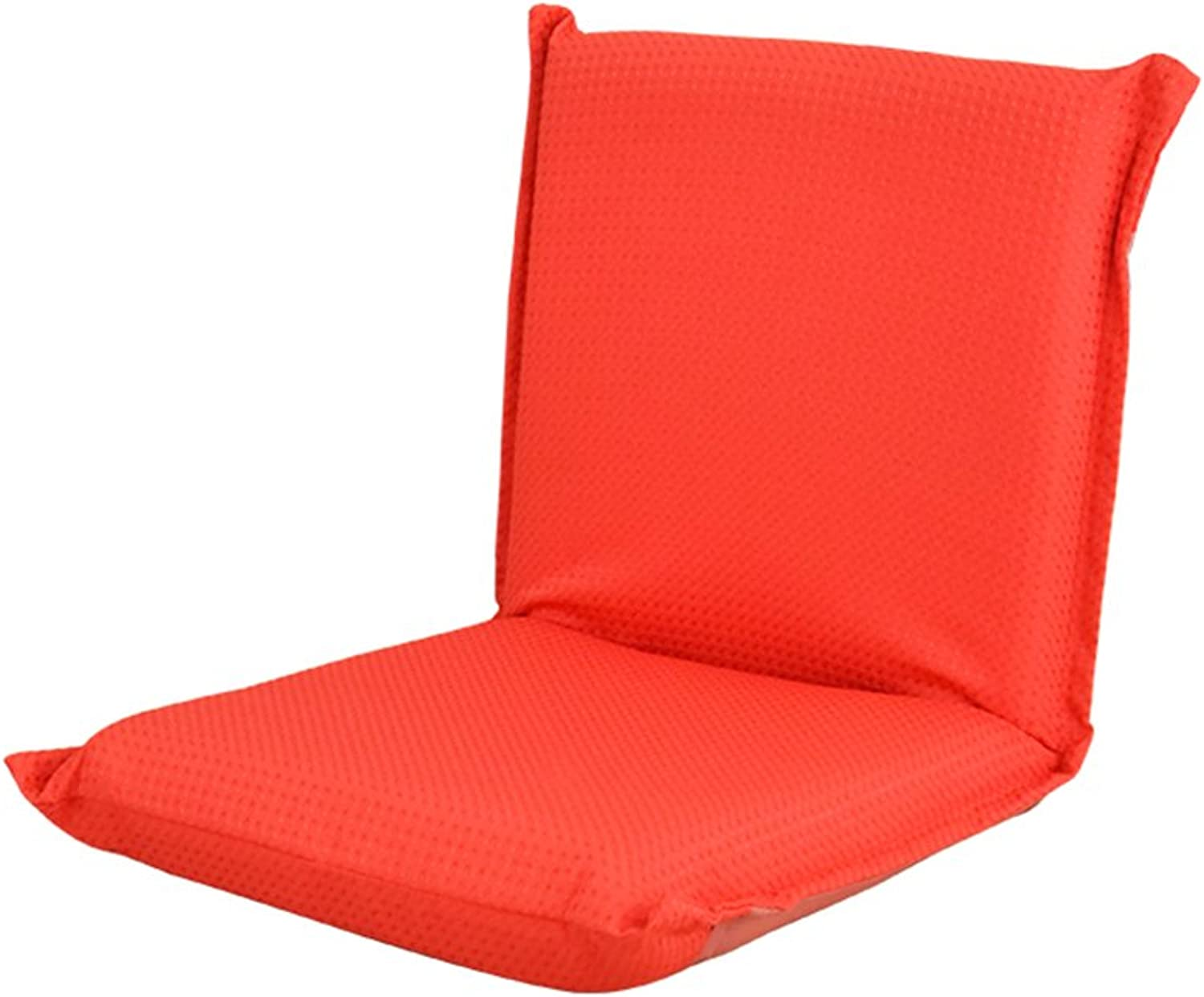 MAHZONG Recliners Foldable Lazy Sofa Bed Back Cushion Chair (color   RED)