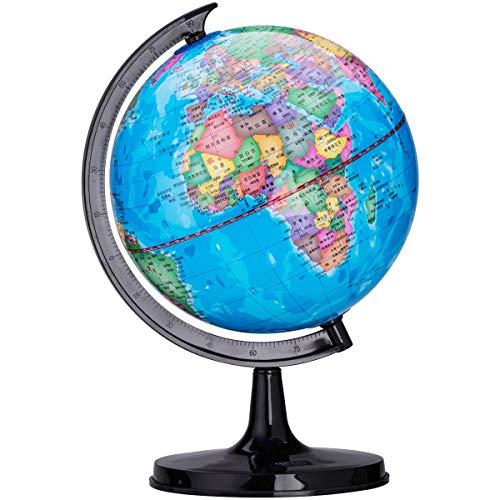 Ogquaton Mapa giratorio del globo Mapa del mundo Mapa de mesa de juguete educativo Decoración para animar a los niños curiosos a explorar el mundo de la ciencia 1PCS