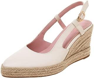 Melady Women Fashion Weaving Wedge High Heel Pumps