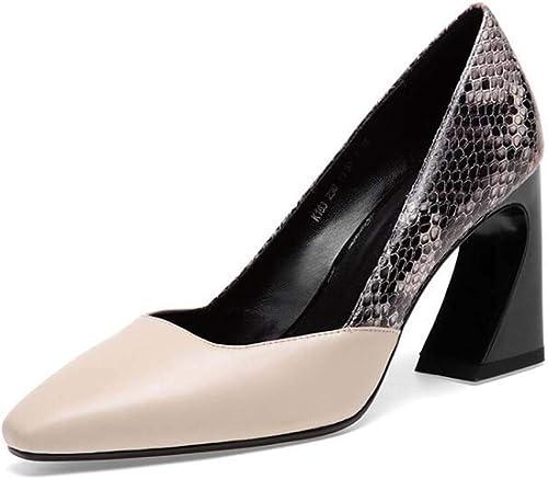 MSSugar Chaussures à Talons carrés pour Femmes à la Mode pour Femmes