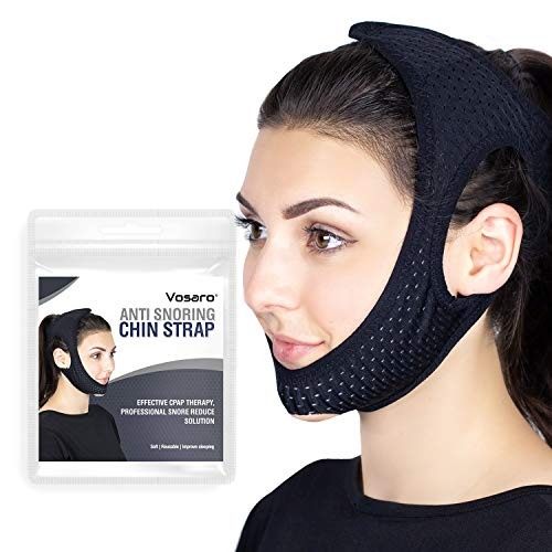 Anti Snoring Chin Strap for Men Women, Vosaro Newest CPAP Chin Strap Device, Adjustable and Breathable Stop Snoring Solution for Snorers of All Ages, Snoring Sleep Aid