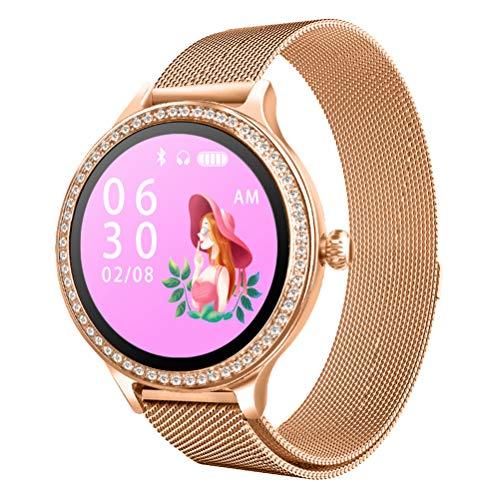 WY-H Reloj Inteligente M8 Moda para Mujer Pantalla táctil a Prueba Agua Rastreador de Ejercicios Podómetro para monitorizar la frecuencia cardíaca y la presión Arterial, para iOS y Android