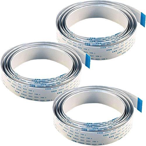 AZDelivery 3 x Cable de cinta flexible de repuesto Flex Cable 200 cm para Raspberry Pi Cámara/Pantalla con eBook incluido