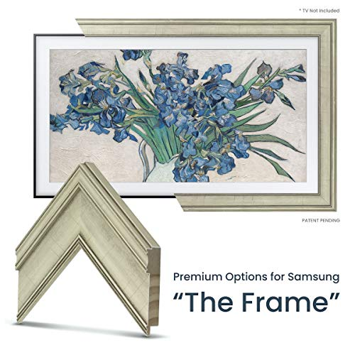 For Sale! Deco TV Frames - Antique White Frame for Any Size Samsung The Frame TV (75)