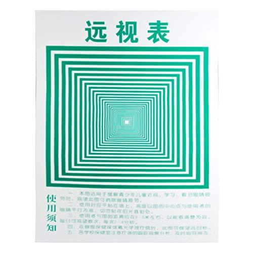 Hongma Sehtafel für Augentraining Entspannung Anti-Müdigkeits Anti-Myopie MEHRWEG