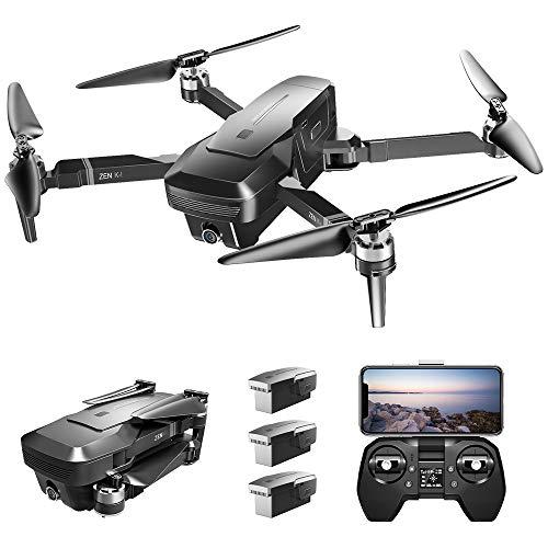 Goolsky- VISUO Zen K1 4K GPS Drone sin Escobillas con Cámara Dual 120 ° Gran Angular 5G WiFi Filtro de Belleza Optiacal Flow Figura Seguir RC Quadcopter 3 Batería