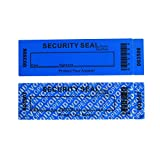 50-Pack Non Residue Tamper Evident Security Warranty 'VoidOpen' Stickers/ Labels/ Seals for Expensive Surface or Reusable Package (Blue, Large 35 x 120 mm, Triple Serial Numbers - TamperSTOP)
