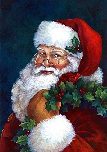 najiaxiaowu Classic Jigsaw Puzzle 1000 Piece Adult Children Puzzle Wooden Puzzle DIY Santa Claus Carrying a Gift Modern Home Decor Festival Gift Wall Art 75x50cm