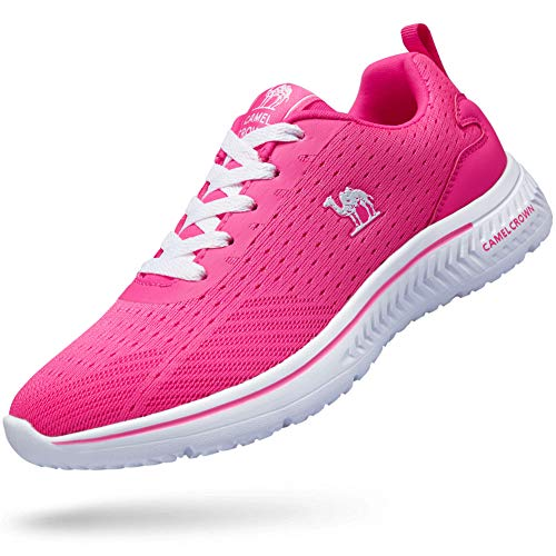 CAMEL CROWN Women Running Shoes Lightweight Fashion Sneakers Casual Shoes Non-Slip Walking Sport Trainers Sneakers Athletic Shoes Outdoor Grey Size 6.5