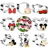 GUBOOM 8 moldes de galletas Mickey Mouse, de acero inoxidable, para fondant, galletas, ratón, juego para decoración de cumpleaños (ratón)
