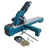 KATSU Compact Circular Saw Plunge Cut with Guide Track 600W 230-240V 7400rpm 85mm 0-45° + Mitre Base + 3 Extra Blades (Diamond, HSS, and TCT)