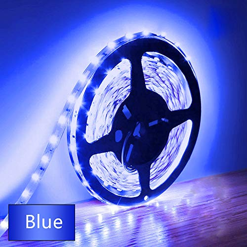 Eksave 5M LED Strip Lights Blue 300 Unidades SMD 5630 12V Striplight de baja tensión Cinta LED no impermeable Iluminación de cinta azul para el hogar Cocina Gabinete Retroiluminación de TV y más