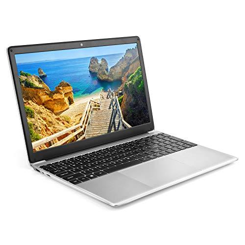 YELLYOUTH Windows 10 Laptop 15.6 inch Ultraslim Notebook Computer PC, Intel Celeron Quad Core 8GB RAM 256GB SSD with RJ45 HDMI 3.0 WiFi Bluetooth