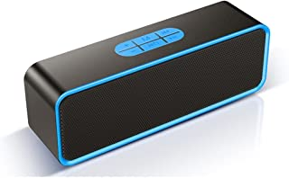 $130 » LKYBOA Desktop Wireless Bluetooth Speaker Small Stereo Subwoofer 3D Surround Outdoor Portable Home (Color : Blue)
