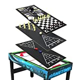 Sunnydaze 10 Combination Multi Game Table with Billiards, Push Hockey,...