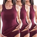 HERMKO 1325 3er Pack Damen Longshirt ideal für drüber und drunter (Weitere Farben), Farbe:Bordeaux, Größe:44/46 (L)