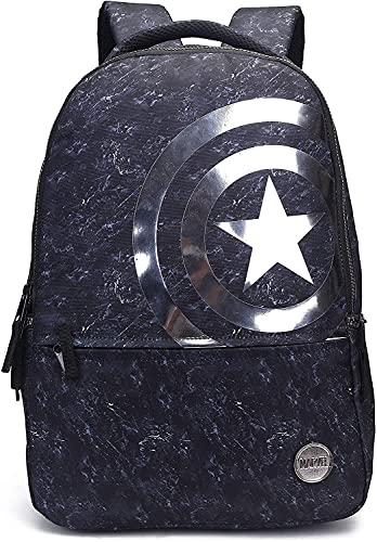 Avengers Capitan America Mochila para Hombres y Niños, Mochila de Viaje, Mochila Escolar, Mochila Multifuncional, Regalo de Los Vengadores