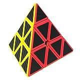 LSMY Speed Cube Pyraminx 3x3, Puzzle Mágico Cubo Carbon Fiber Sticker Toy