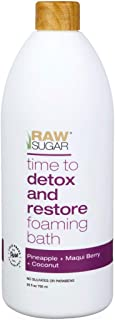 Raw Sugar Detox And Restore Foaming Bath Pineapple+Maqui Berry+Coconut 25 fl oz, pack of 1