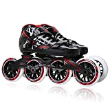 Old street Original Cougar Sr8 Speed Skates Carbon Fiber Professional Competition Skate 4 Wheels Racing Skating Shoes Patines Patins,Black,38