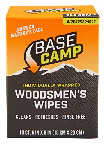 Dead Down Wind Base Camp Biodegradable Woodsmen's Wipes 10 Individual...