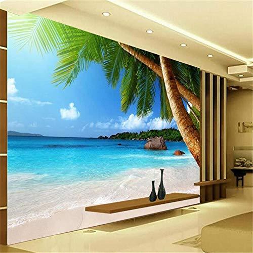 OTXA Wallpaper Hd Meer Kokospalme Strand Tv Hintergrund Wand Wohnzimmer Schlafzimmer Hintergrund 3D Wallpaper Behang-350 * 245