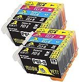 Yellow Yeti Reemplazo para Canon PGI-5 CLI-8 | 10 Cartuchos de Tinta compatibles con Canon PIXMA iP4200 iP4300 iP4500 iP5200 iP5200R iP5300 MP500 MP600 MP600R MP610 MP800 MP800R MP810 MP830 MX850