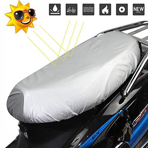 Sunnyushine Motorrad Sitzbezüge Sitzbankbezug, Sitzbankabdeckung für Motorrad Roller Moped Sitzbezug, Leder / 210D Oxford Tuch Motorradbezug Leichte Sitzbezug Wasserdicht Regen Staub UV