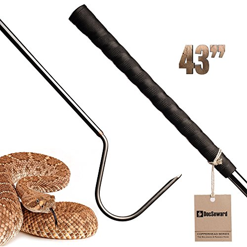 DocSeward Snake Hook, Copperhead Series for Catching, Controlling, or Moving Snakes, Stainless Steel & Copper, Field Length (43 inches)