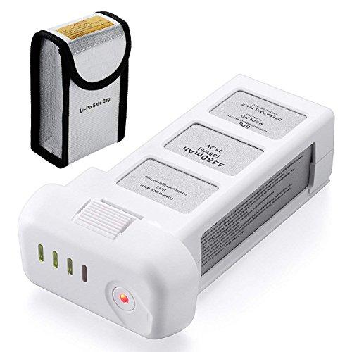 Powerextra - Batteria Phantom 3, 15,2 V, 4480 mAh, batteria LiPo intelligente per droni DJI Phantom 3 Professional/Advanced/Standard e Phantom 3 SE 4 K