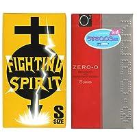 リンクルゼロゼロ 1500 12個入 + FIGHTING SPIRIT (ファイティングスピリット) コンドーム Sサイズ 12個入