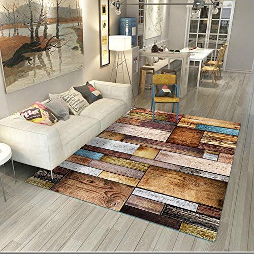 YUANCJ Dormitorio Sala de Estar Alfombra,Alfombra de imitación de Madera de Estilo de Moda Simple hogar Dormitorio Sala de Estar Alfombra, 50 × 80 cm