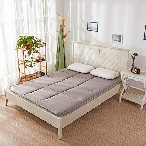 qmj Materasso Giapponese Doppio Singolo Materassino per Dormire Tatami Addensato Materasso Pieghevole,Gray-90x195cm