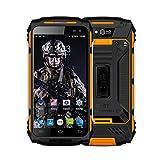 Smartphone Robusto, Discovery X2 Dual SIM 4G Desbloqueado Android 6.0 Teléfono móvil para Exteriores, 2GB de RAM + 16GB de ROM, Pantalla táctil de 5 Pulgadas Celular en Color Amarillo