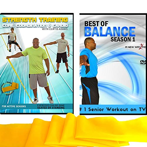 Balance + Strength Exercise for Seniors: Improve Your Balance and Increase Your Strength with This Senior Fitness Combo Includes Resistance Band. Get Stronger, Core & Abs, Aerobics, Coordination