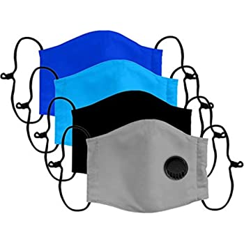 5PC Child Face Bandanas with Filter and 10pcs Activated Carbon Pm 2.5 Haze Dust Face Health for Outdoors Daily School D-5PC+10pcs Filter